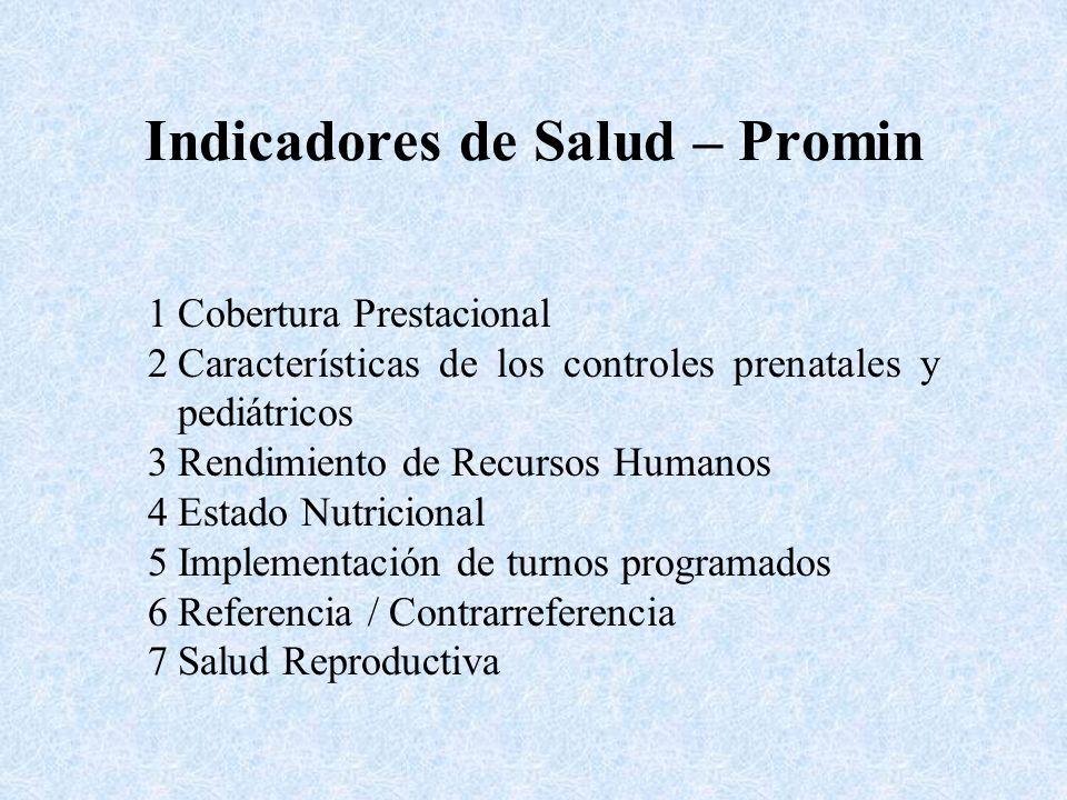 Indicadores de Salud – Promin