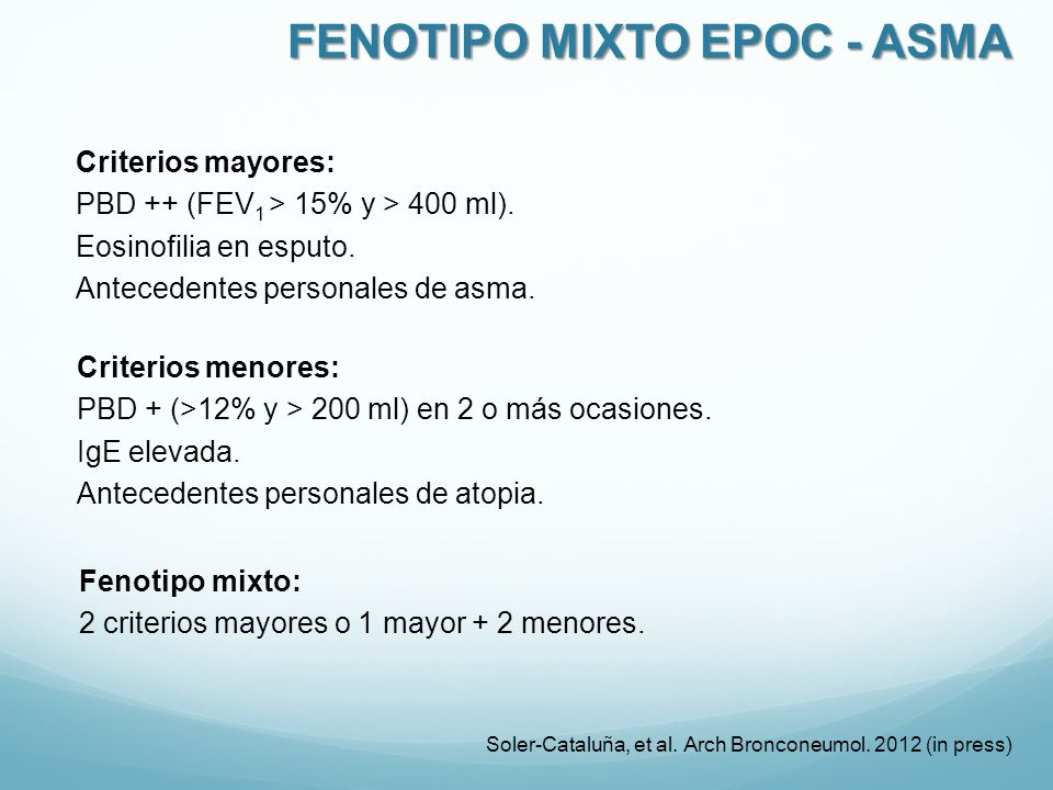 FENOTIPO MIXTO EPOC - ASMA