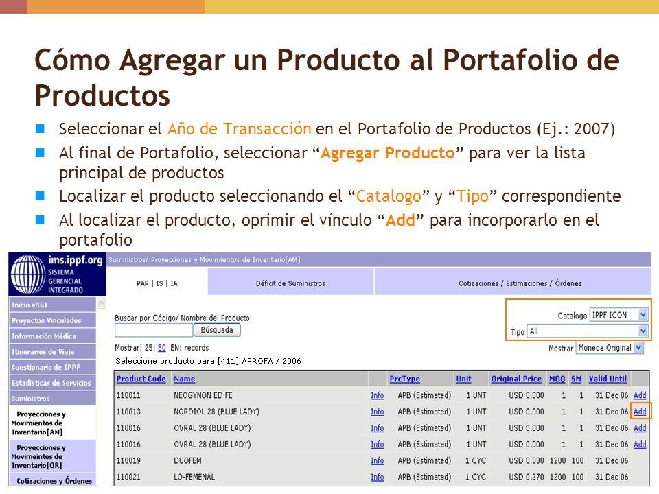 Cómo Agregar un Producto al Portafolio de Productos