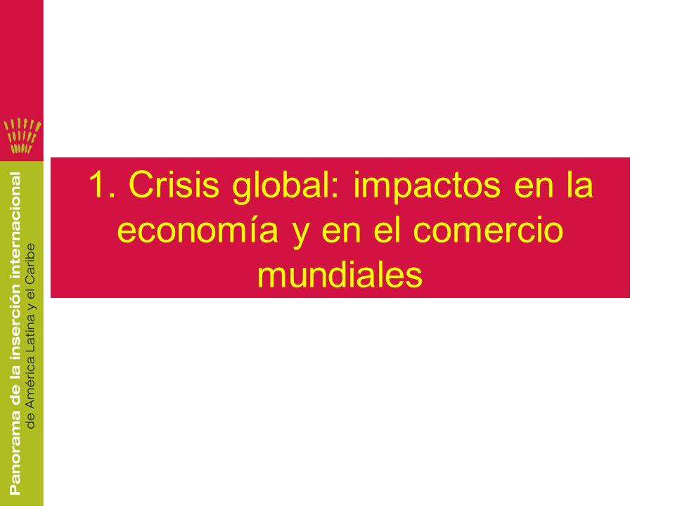 1. Crisis global: impactos en la economía y en el comercio mundiales