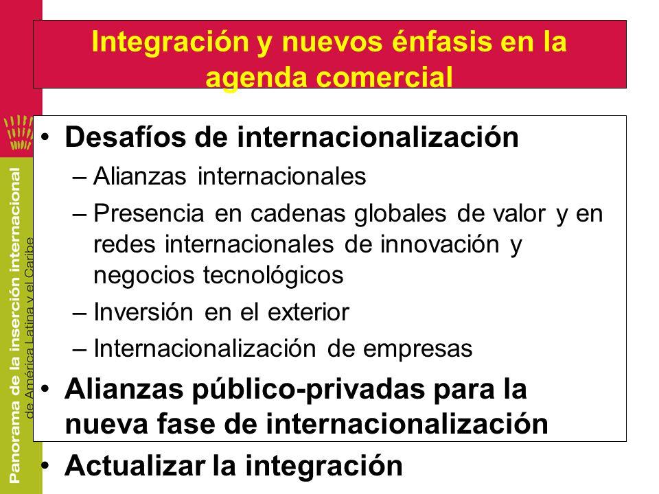 Integración y nuevos énfasis en la agenda comercial