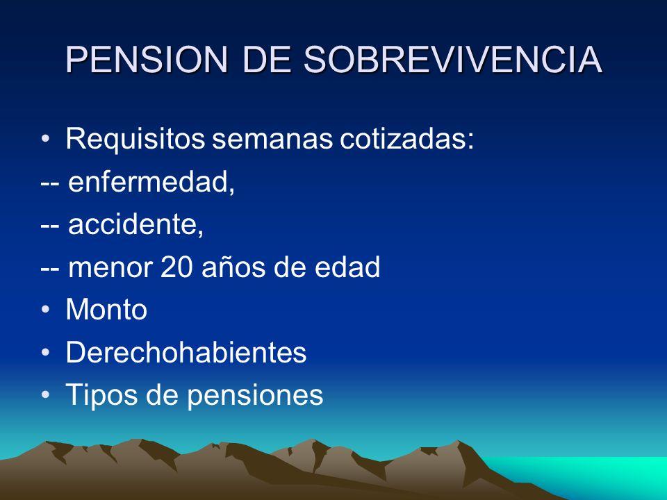 PENSION DE SOBREVIVENCIA