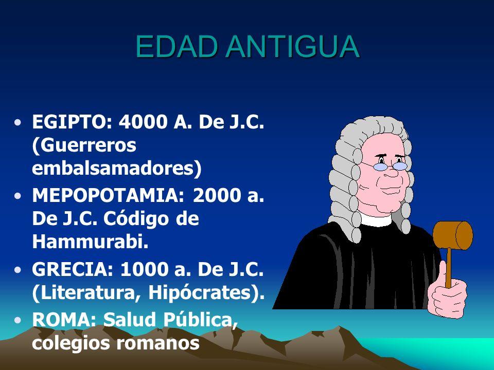 EDAD ANTIGUA EGIPTO: 4000 A. De J.C. (Guerreros embalsamadores)