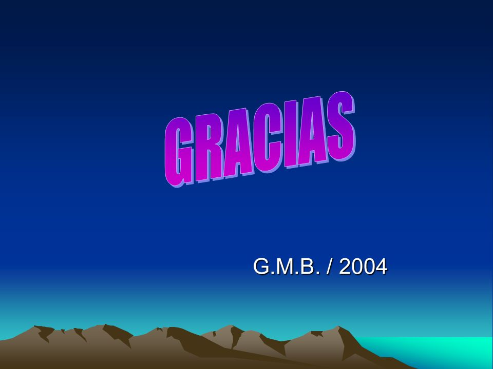 GRACIAS Gracias G.M.B. / 2004