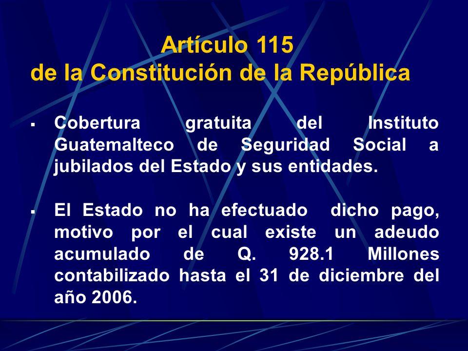 de la Constitución de la República