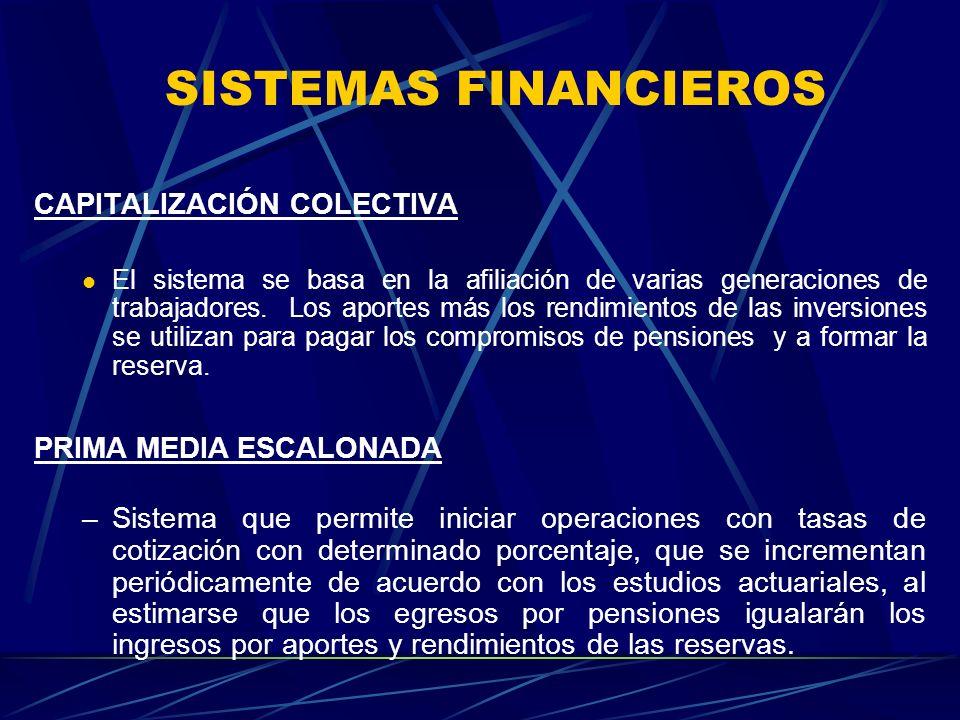 SISTEMAS FINANCIEROS CAPITALIZACIÓN COLECTIVA PRIMA MEDIA ESCALONADA