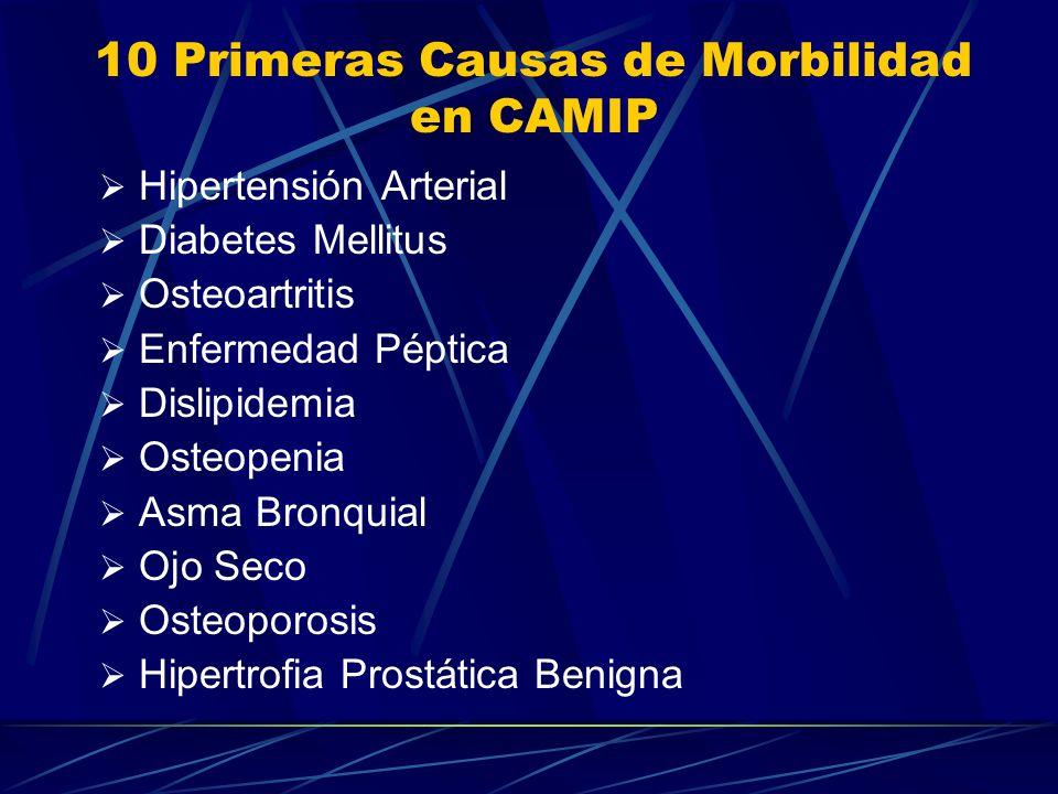 10 Primeras Causas de Morbilidad en CAMIP