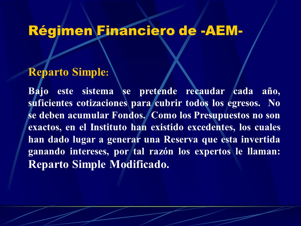 Régimen Financiero de -AEM-