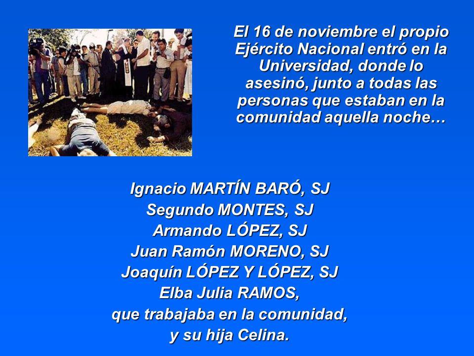 Joaquín LÓPEZ Y LÓPEZ, SJ que trabajaba en la comunidad,