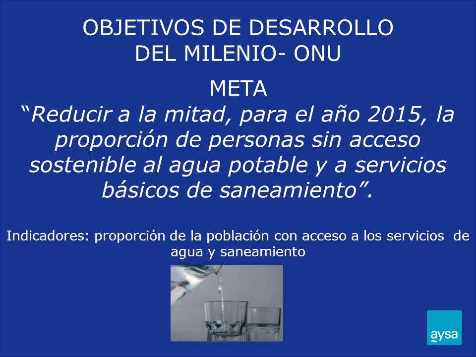 OBJETIVOS DE DESARROLLO DEL MILENIO- ONU