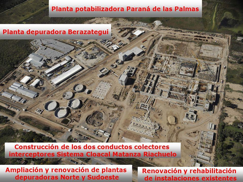 Planta potabilizadora Paraná de las Palmas