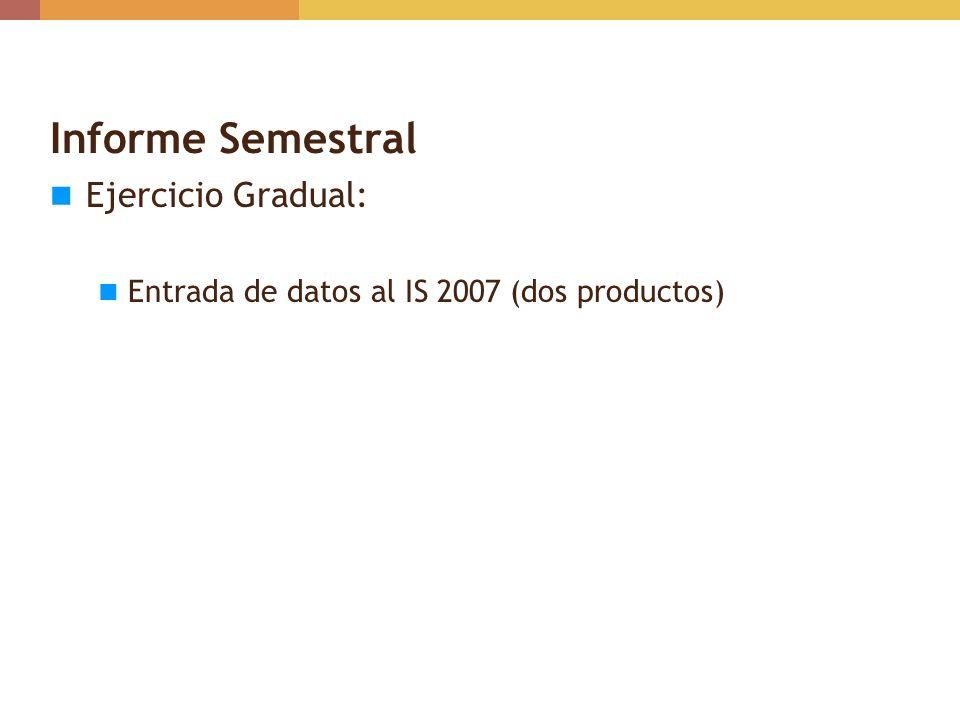 Informe Semestral Ejercicio Gradual: