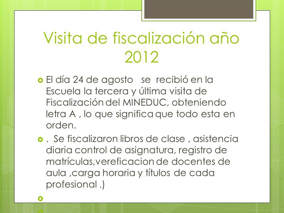 Visita de fiscalización año 2012