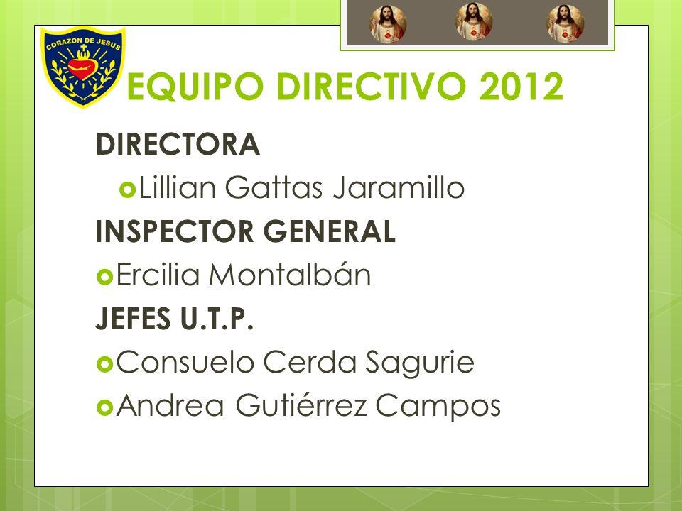 EQUIPO DIRECTIVO 2012 DIRECTORA Lillian Gattas Jaramillo
