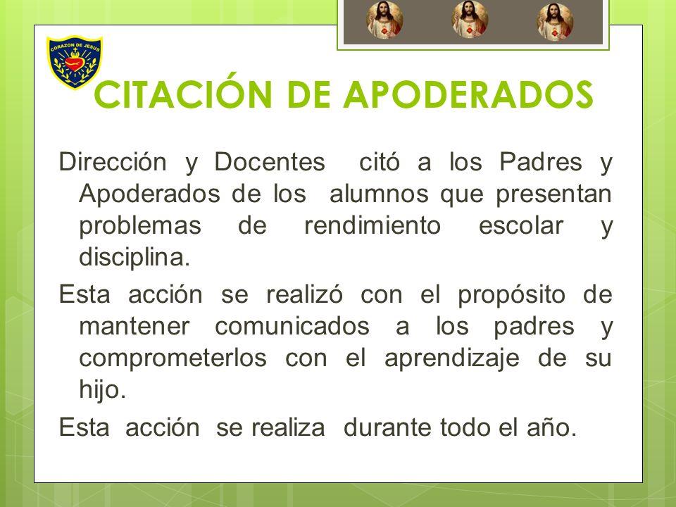 CITACIÓN DE APODERADOS
