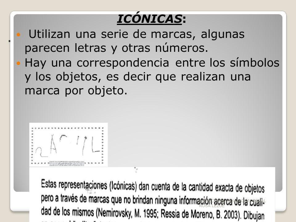 . ICÓNICAS: Utilizan una serie de marcas, algunas parecen letras y otras números.