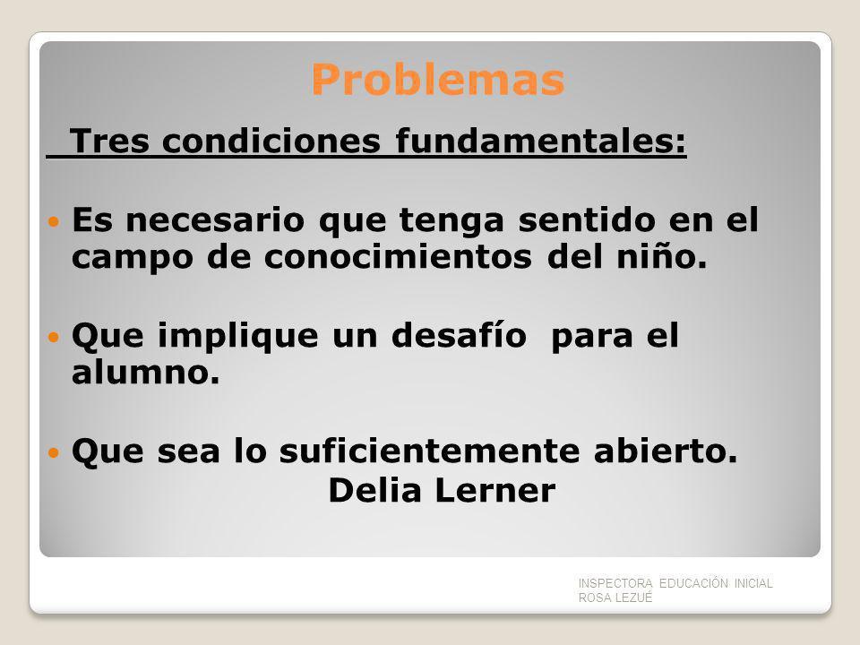 Problemas Tres condiciones fundamentales: