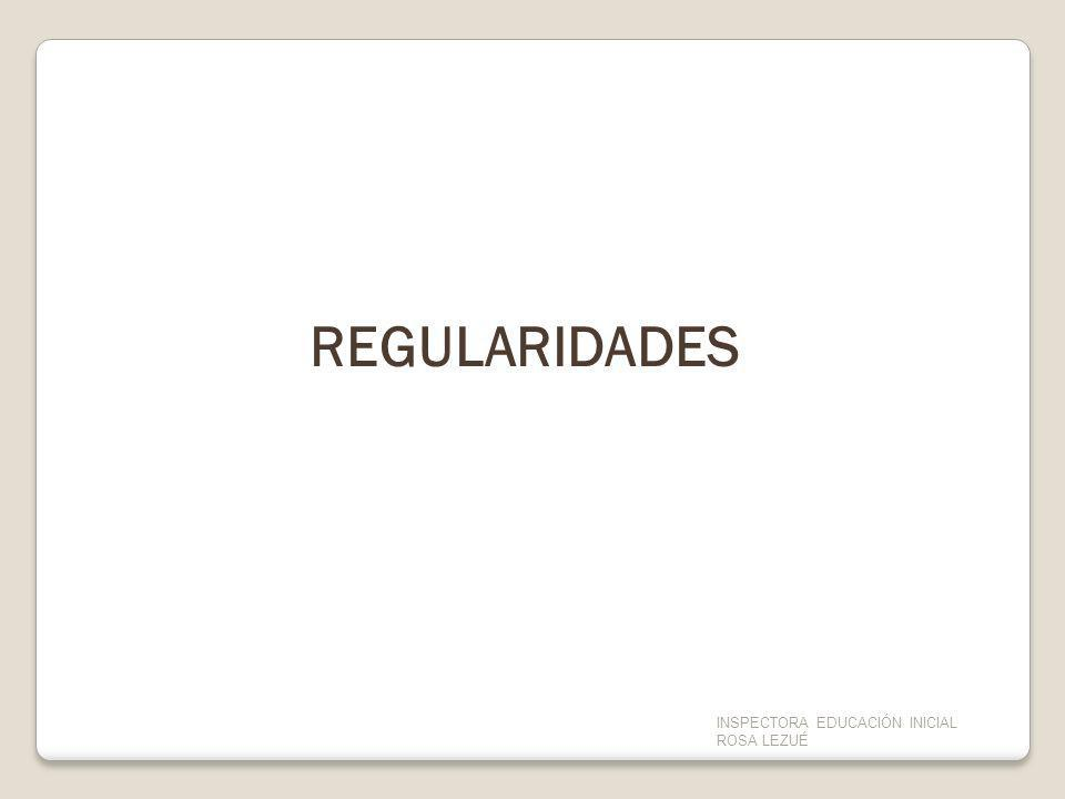 REGULARIDADES TERCER PROYECTO DE APOYO A LA ESCUELA PÚBLICA URUGUAYA