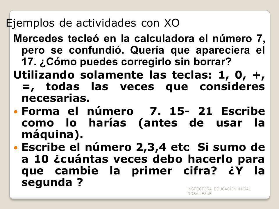 Ejemplos de actividades con XO