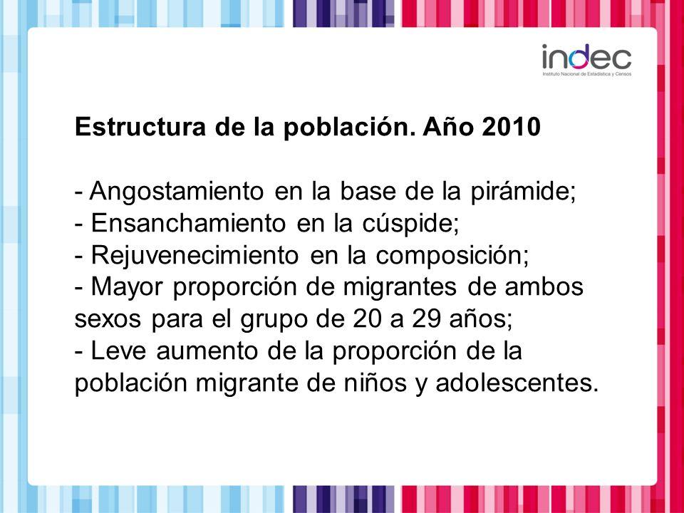 Estructura de la población. Año 2010