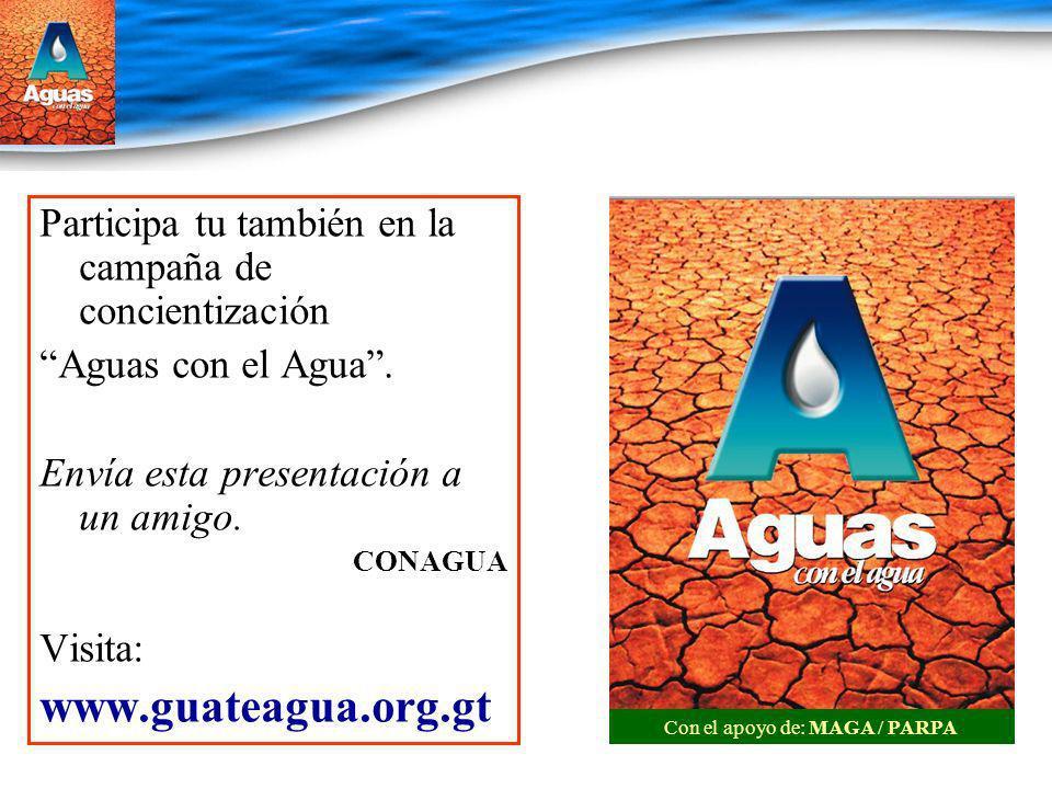 Con el apoyo de: MAGA / PARPA