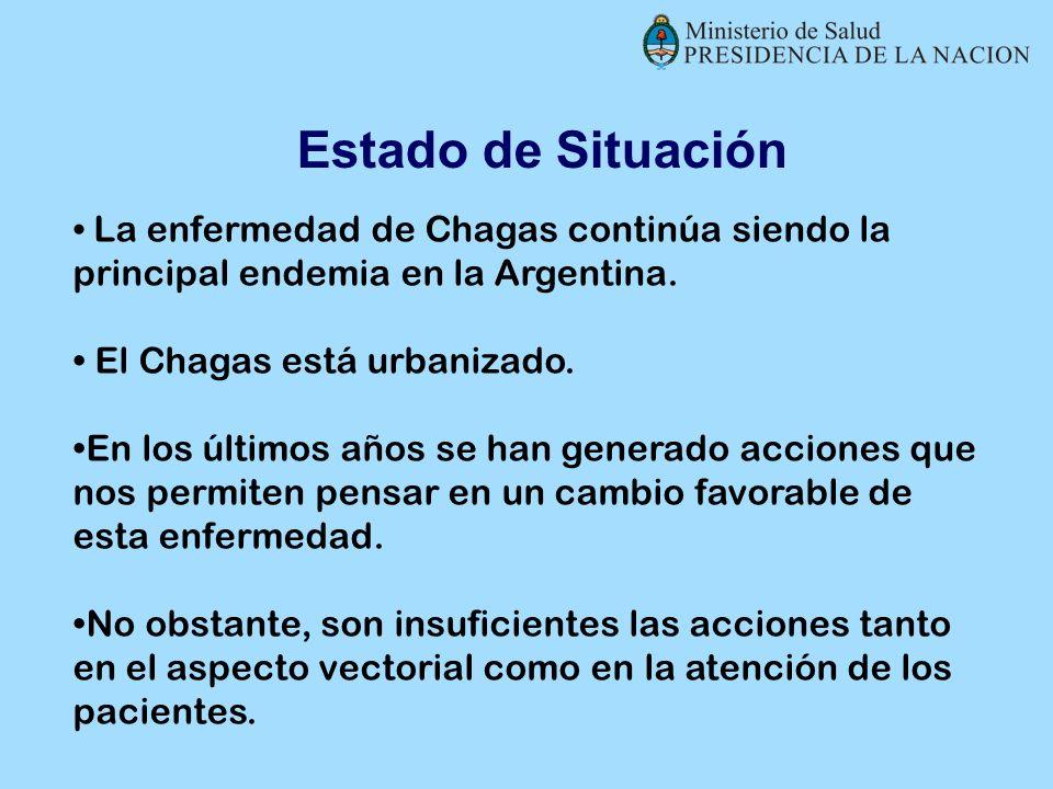 Estado de Situación El Chagas está urbanizado.