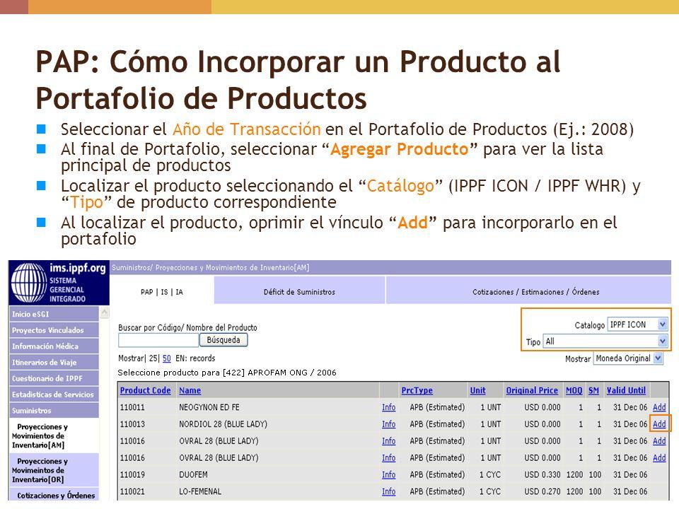 PAP: Cómo Incorporar un Producto al Portafolio de Productos
