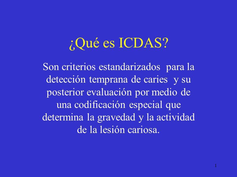 ¿Qué es ICDAS