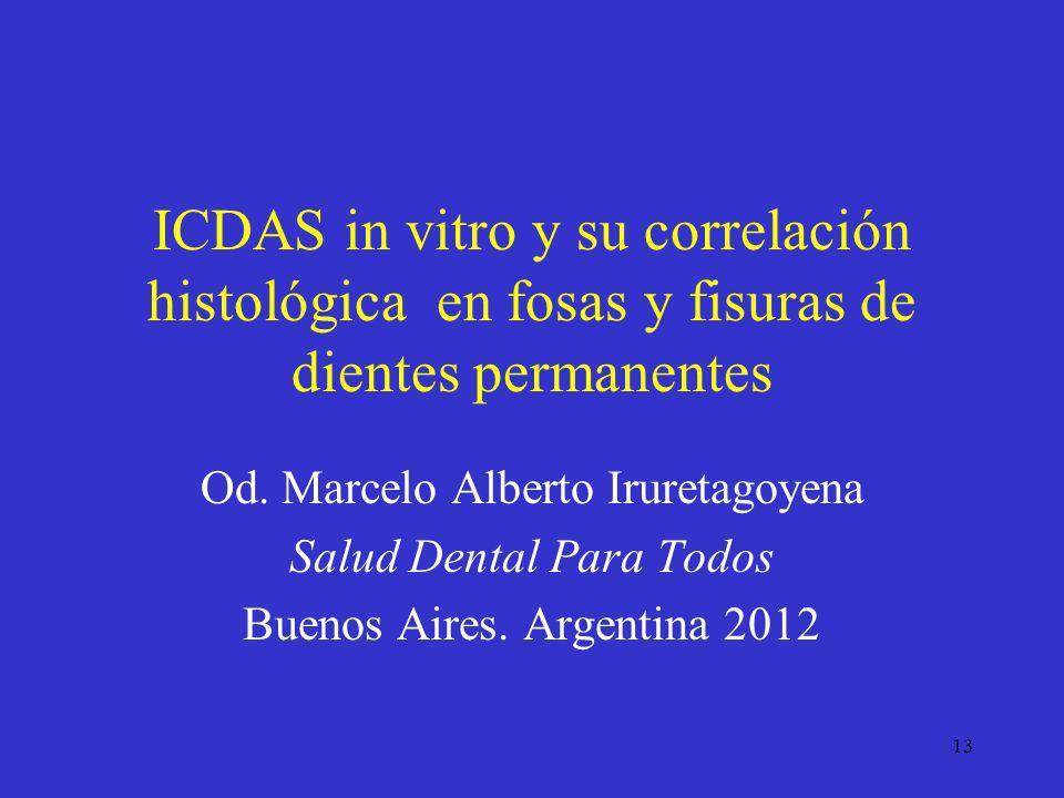 ICDAS in vitro y su correlación histológica en fosas y fisuras de dientes permanentes