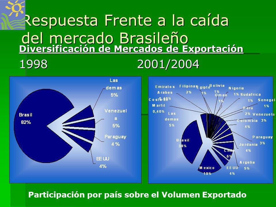 Respuesta Frente a la caída del mercado Brasileño