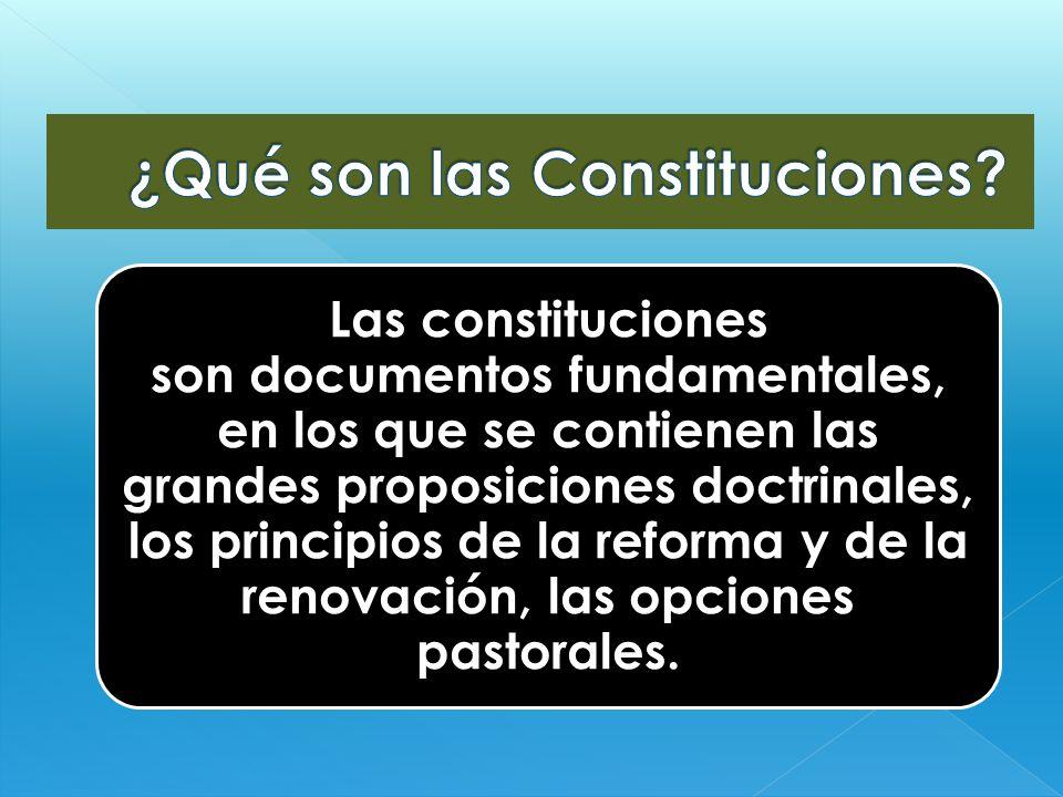 ¿Qué son las Constituciones