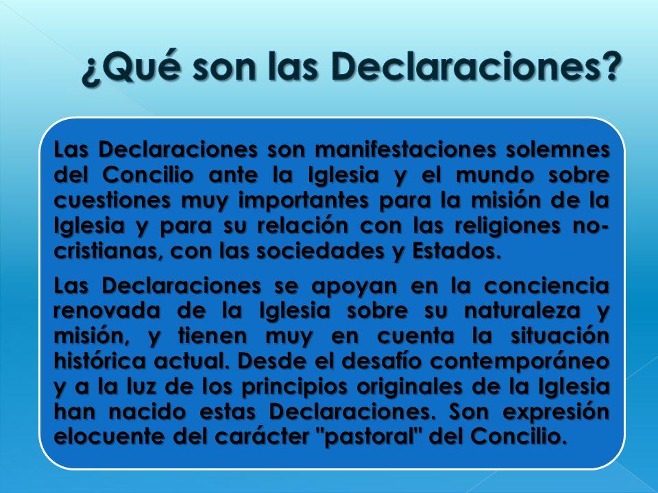 ¿Qué son las Declaraciones