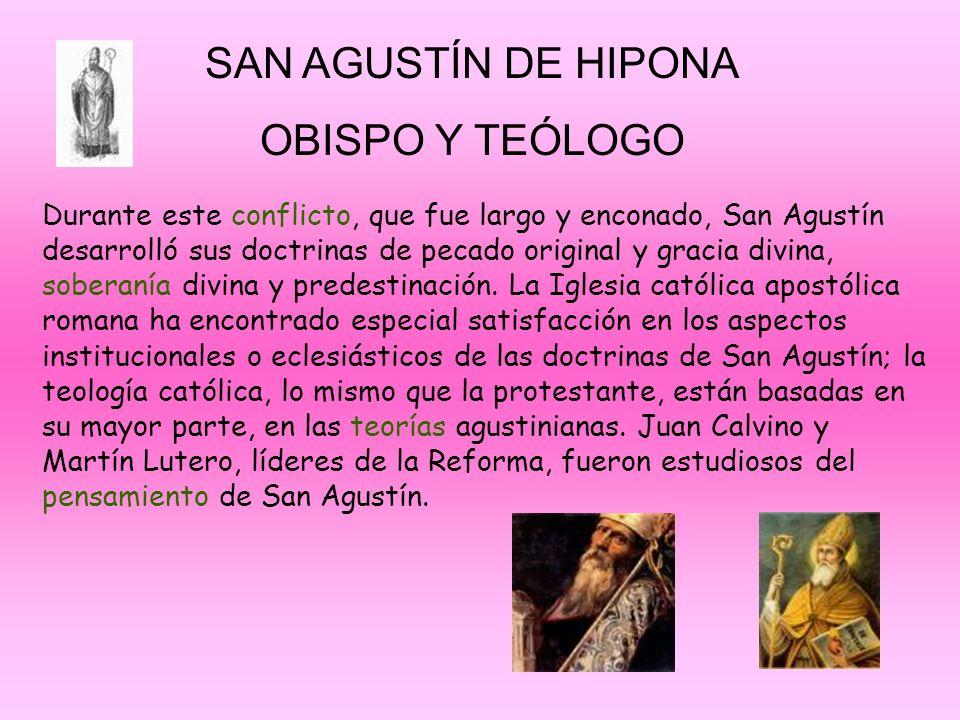 SAN AGUSTÍN DE HIPONA OBISPO Y TEÓLOGO