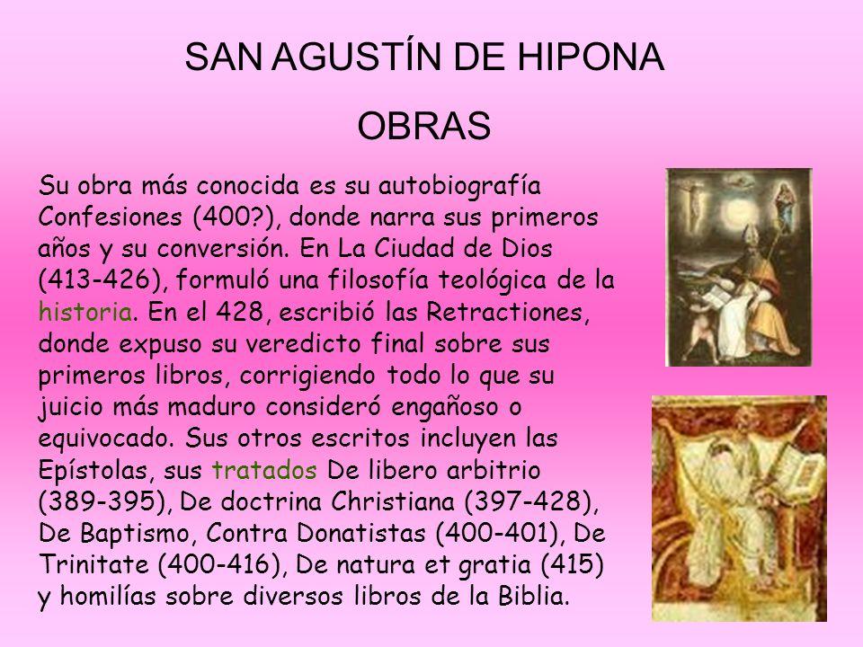 SAN AGUSTÍN DE HIPONA OBRAS