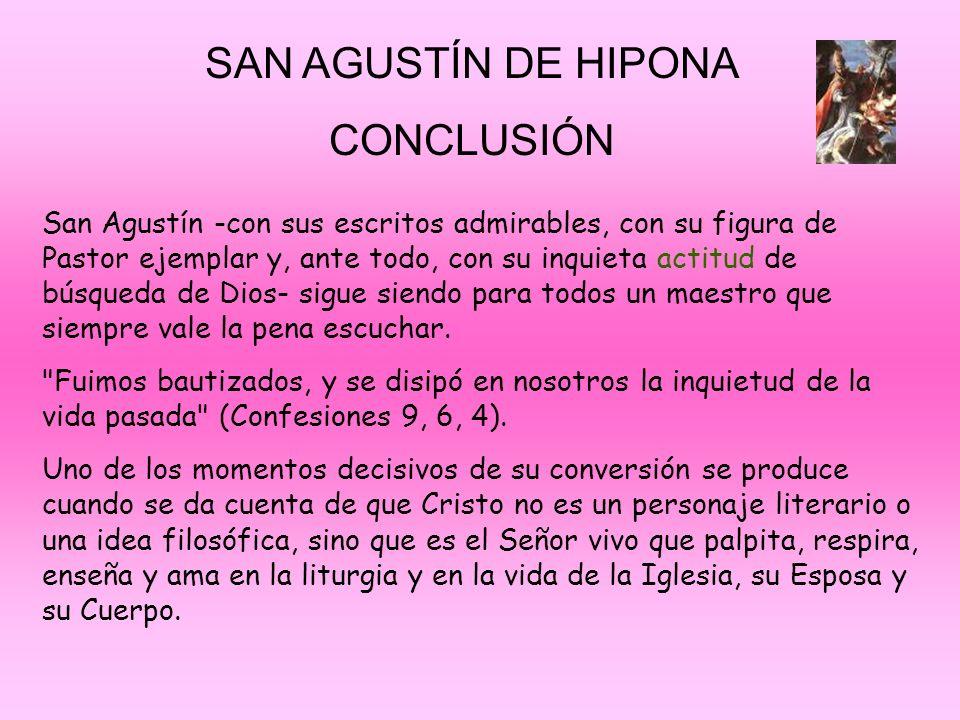 SAN AGUSTÍN DE HIPONA CONCLUSIÓN
