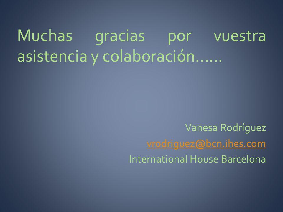 Muchas gracias por vuestra asistencia y colaboración......
