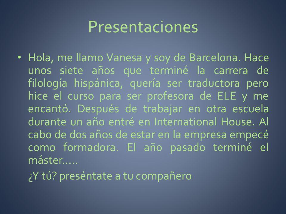 Presentaciones