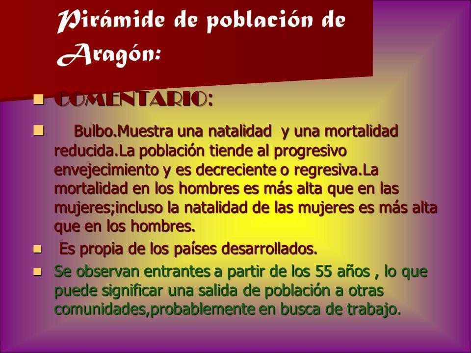 Pirámide de población de Aragón: