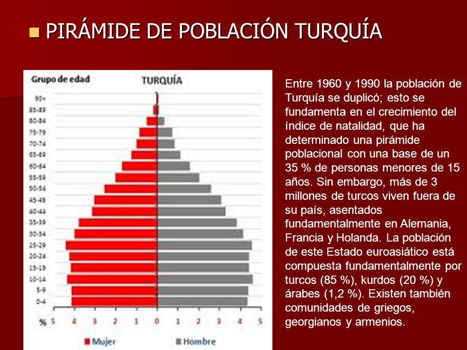 PIRÁMIDE DE POBLACIÓN TURQUÍA