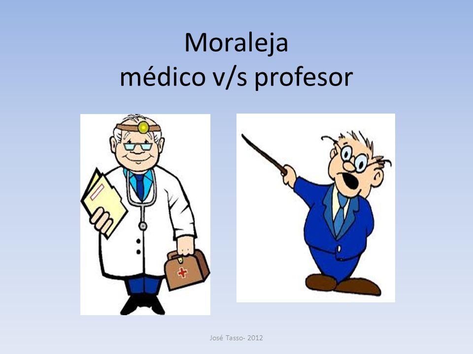 Moraleja médico v/s profesor