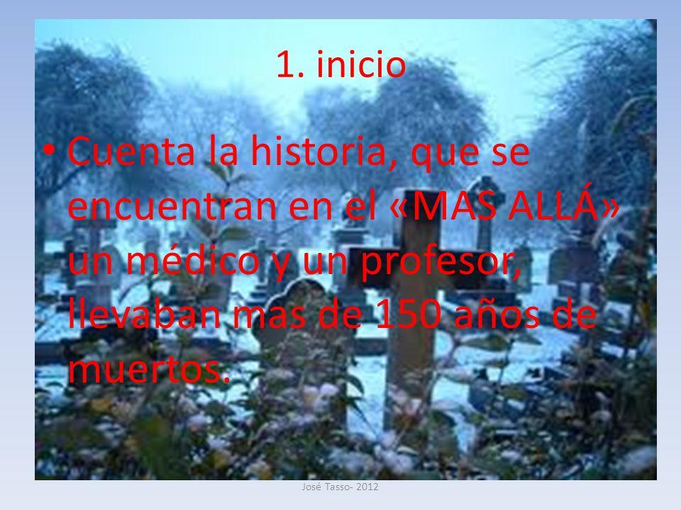1. inicio Cuenta la historia, que se encuentran en el «MAS ALLÁ» un médico y un profesor, llevaban mas de 150 años de muertos.