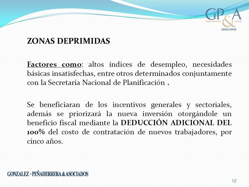ZONAS DEPRIMIDAS