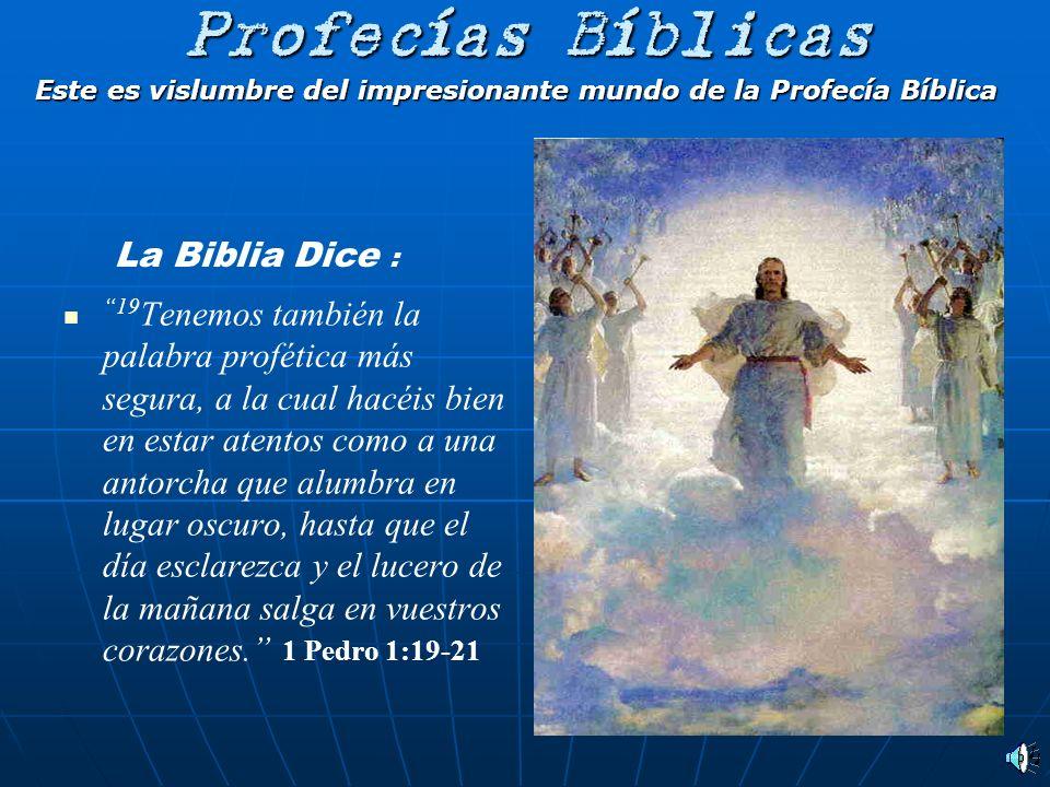 Este es vislumbre del impresionante mundo de la Profecía Bíblica