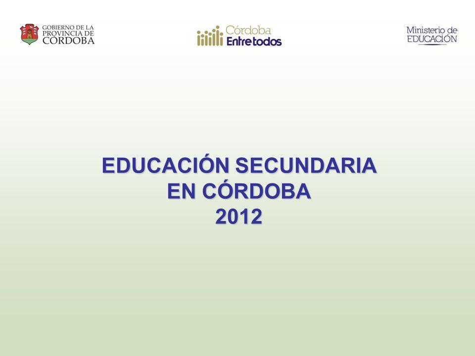 EDUCACIÓN SECUNDARIA EN CÓRDOBA 2012