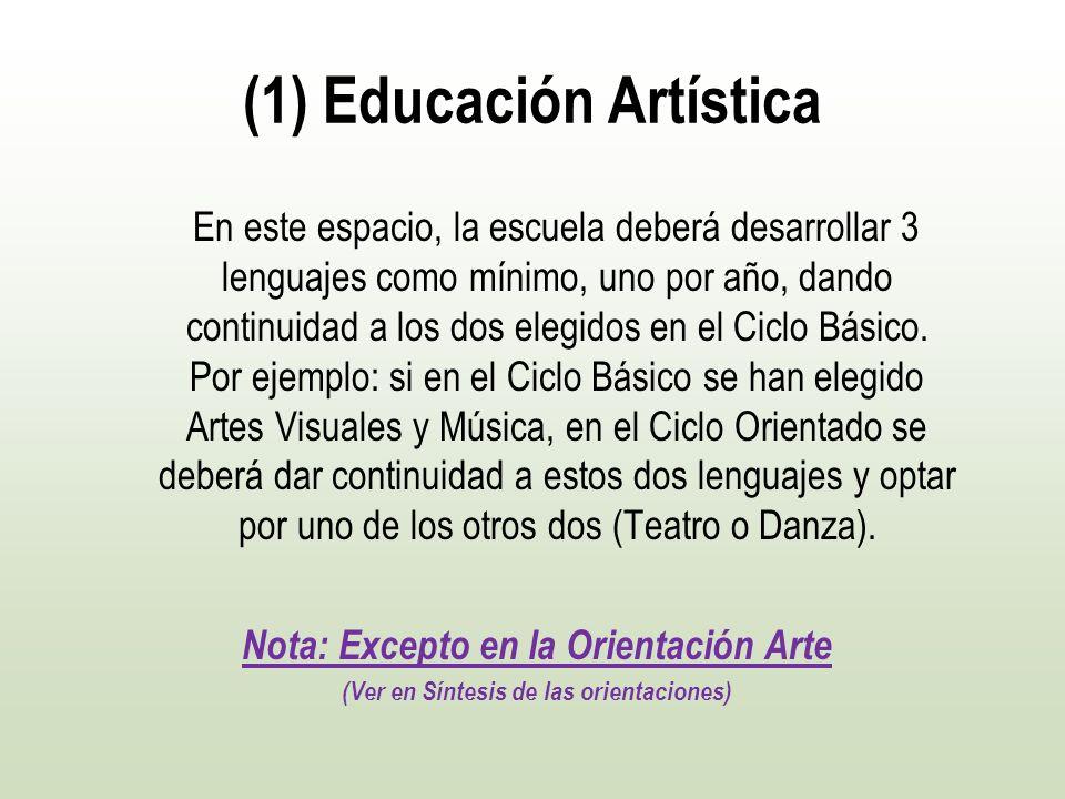 (1) Educación Artística