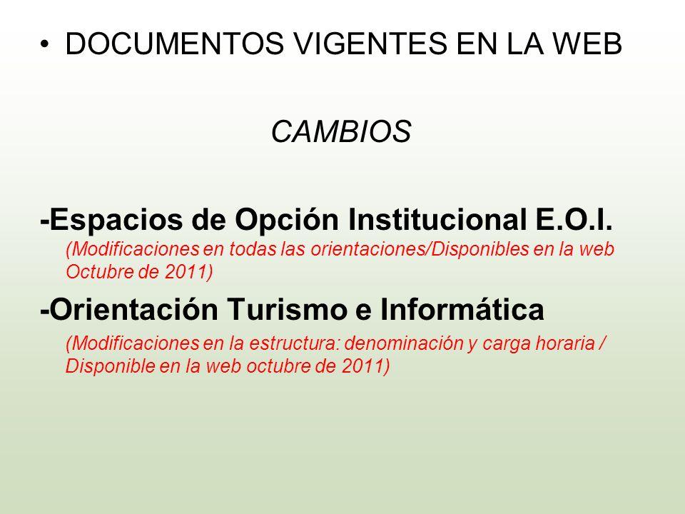 DOCUMENTOS VIGENTES EN LA WEB CAMBIOS