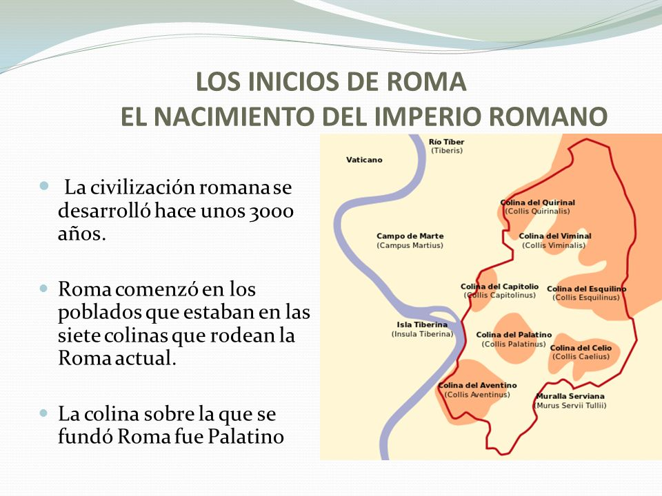 LOS INICIOS DE ROMA EL NACIMIENTO DEL IMPERIO ROMANO