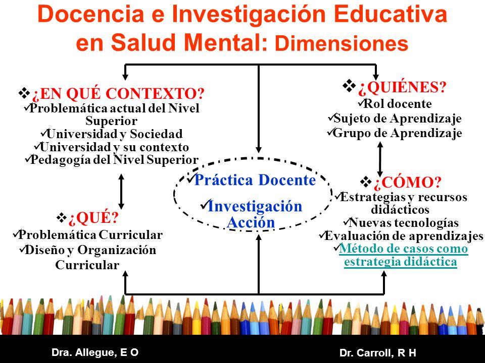 Docencia e Investigación Educativa en Salud Mental: Dimensiones