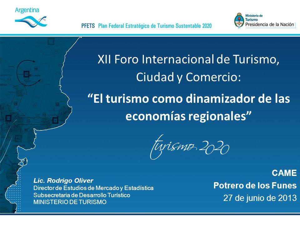 El turismo como dinamizador de las economías regionales