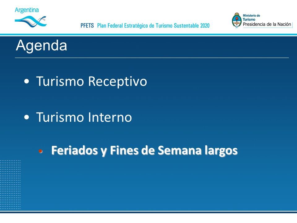 Agenda Turismo Receptivo Turismo Interno